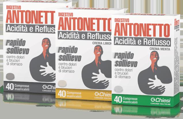 Digestivo Antonetto Acidità e Reflusso Compresse Masticabili